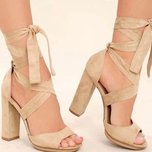 NEW ribbon wrap heeled sandal (click for pix)